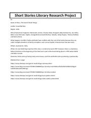 Short Stories Literary Research Project.docx