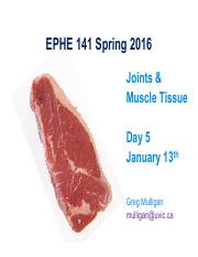 EPHE 141 Day 5 - Joints  Muscle 2016
