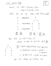 Lecture 4 on Chain Rule