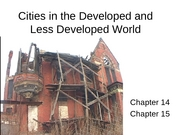 9 Cities in the Developed and Less Developed World notes