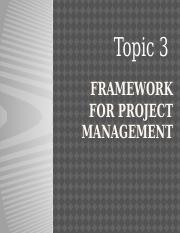 Topic3 PM Framework