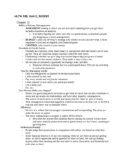 HLTH 208_Unit 2 Chapter 12 Notes