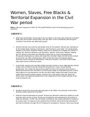 Week 5 paper-Women, slaves, territorial expansion