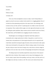 Oil Essay Assignment