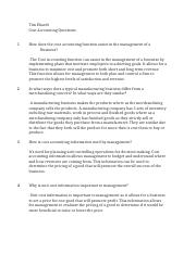 Tim Ehardt Cost Accounting Questions.docx