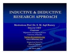 INDUCTIVE & DEDUCTIVE RESEARCH APPROACH 06032008