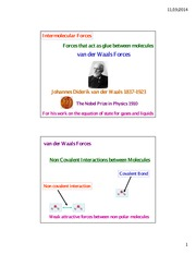 Kakkar Intermolecular Forces London van der Waals dipole Nov 20 2014
