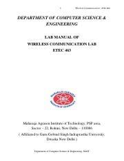 ECE636 Manual-Part III pdf - Lab Manual for ECE 636 Computer