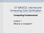Computing Fundamentals Lesson 01