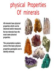 3d. Physical Properties of Minerals.pptx