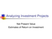 L09 Analyzing Investment Projects