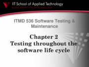 02 Testing throughout the software life cycle