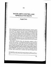 Davis, Racism Birth control and Reproductive Rights.pdf