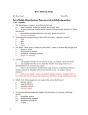 Econ20A Midterm Study Guide KEY