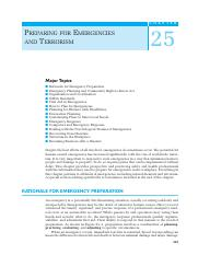 251 Ch25 Emergencies and Terrorism