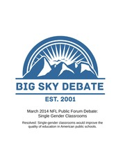 March 2014 Public Forum Blue Sky