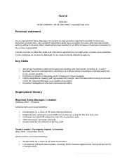 career-change-CV-template