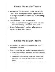 Chapter 5 pt.2 - Kinetic Molecular Theory