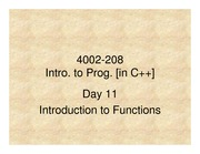 208 Day 11 Functions
