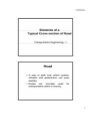 04.Elements of Road X-section
