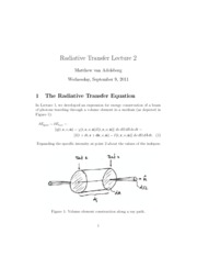 radiaive lecture 2 notes