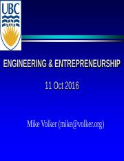 APSC 450 Lecture 10 - Powerpoint - Engineering and Entrepreneurship by Mike Volker.pdf