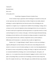 Fourth Major Assignment- Persuasive Synthesis Essay.docx