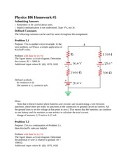Physics 106 Homework5