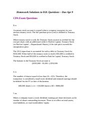 Homework Solutions to D2L Questions - Due Apr 9