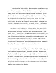 (argumentative essay) Should students be