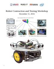 Instructions for Assembling - Testing  pcDuino Robots