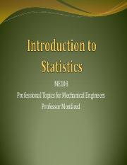 ME108 Lec#1 Intro To Statistics