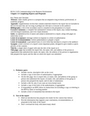 BUSA 2105 Chapter 13 Key terms and checklist