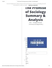 The Promise of Sociology Summary & Analysis - SchoolWorkHelper.pdf