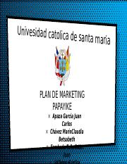 Plan de Marketing Papayike