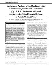 An Interim Analysis of the Quality of Life, Effectiveness, Safety and Tolerability  Evaluation of Mi