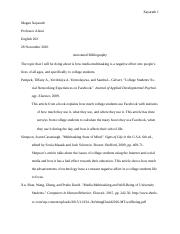 ANNOTATED BIBLIOGRAPHY - E4