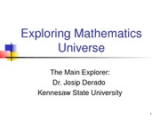 Exploring Mathematics Universe (1)