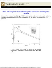 Physics 330b_Class Notes on Elastic Scattering, Phase Shift Analysis of Proton or Neutron Scattering