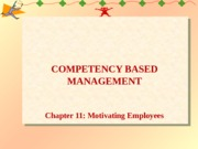Chapter 11-Motivating Employees