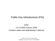 CS283 Lecture 3 - Part 2 - Public Key Infrastructure - 20090922