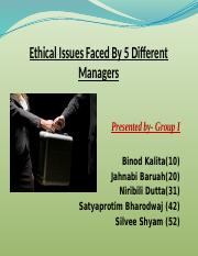 2.Ethical issues faced by 5 managers-group I.pptx