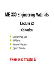 ME 330 -Lecture 23-Corrosion-Extra