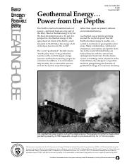 (Ebook) - Free Energy - Geothermal Energy - Power From The Depths.pdf