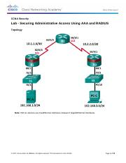 3.6.1.1 Lab - Securing Administrative Access Using AAA and RADIUS