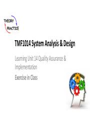 Tmf1014 Scl Lu5 Agile Protyping Pdf Tmf1014 System Analysis Design Learning Unit 5 Agile Modeling And Prototyping Exercise In Class Description A Course Hero