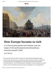 MOKYR_How did Europe become the richest part of the world.pdf