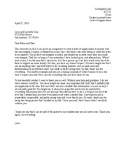 student initiated letter
