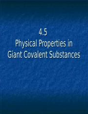 4.5 Physical Properties of Giant covalent substances.ppt