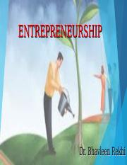 ENTREPRENEURSHIP PART 1